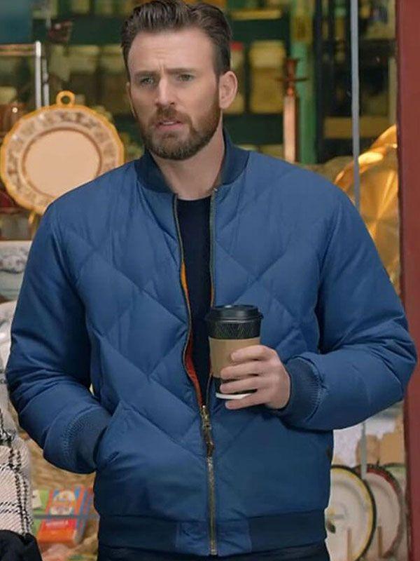 Chris Evans Super Bowl Bomber Jacket