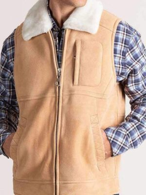 Classical Mens Suede Leather Vest