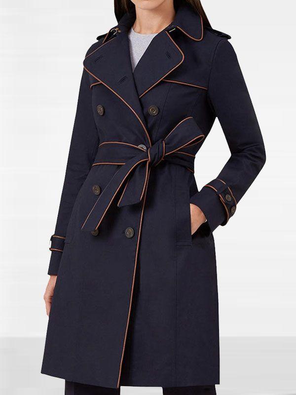Black Lightning Lynn Pierce Trench Coat