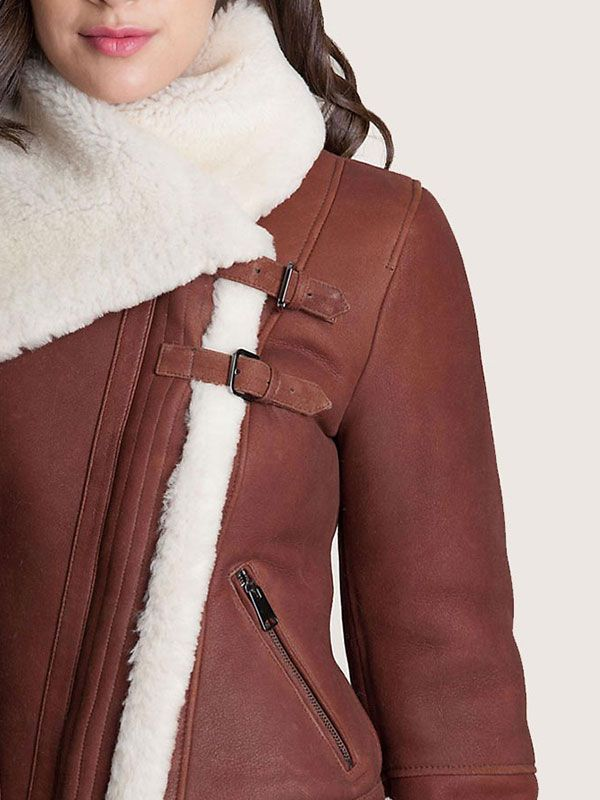 Womens Shearling Sheepskin Jacket