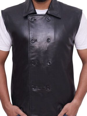 Spiderman Noir Leather Vest