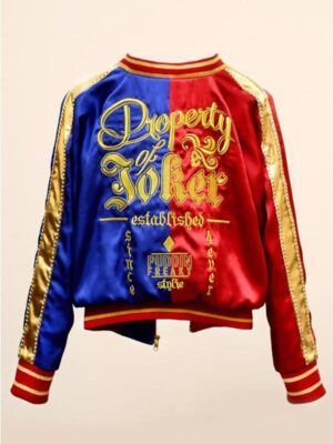 Harley Quinn Red Satin Jacket
