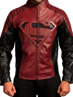 Superman Smallville Black And Maroon Jacket
