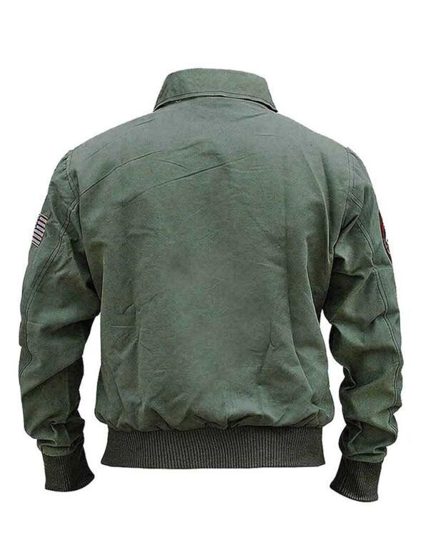 Tom Cruise Bomber Green Jacket