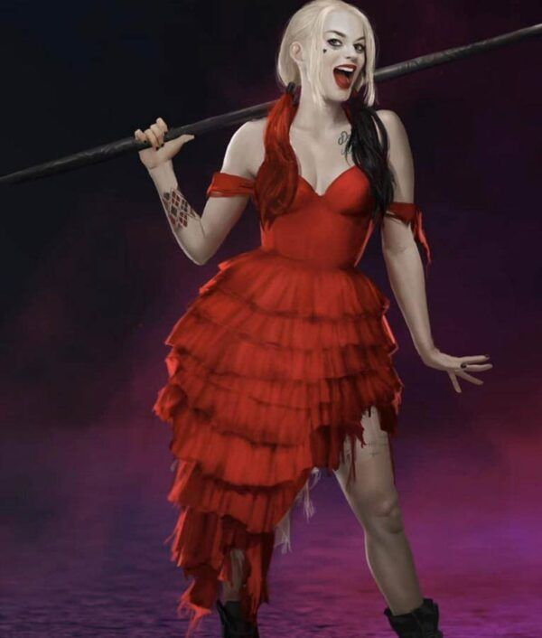 Harley Quinn Red Dress