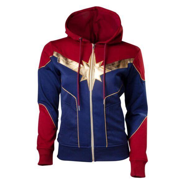 Captain Marvel Red Hoodie
