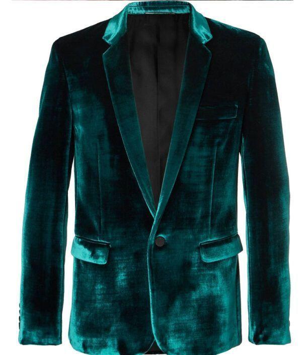 Black Mask Velvet Blazer Coat