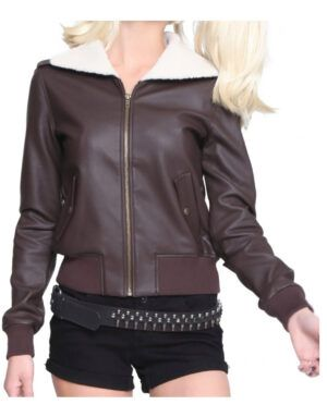 Harley Quinn Bombshell Brown Jacket