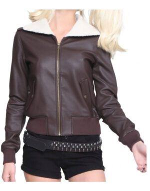 Harley Quinn Bombshell Brown Jacket