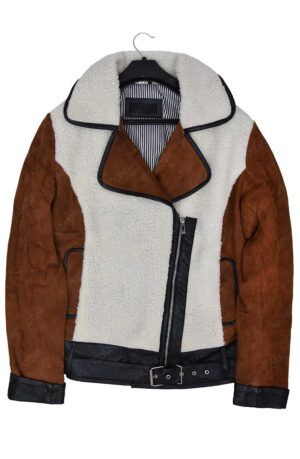 Women Half Shearling And Suede Jacket