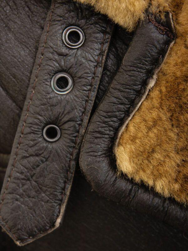 Mens Brown Sheepskin Trench Coat