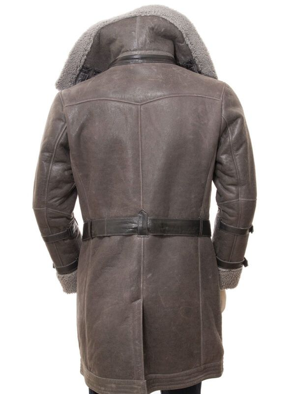Men's Grey Sheepskin Coat