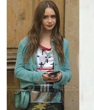 Lily Collins Emily In Paris Emily Cardigan