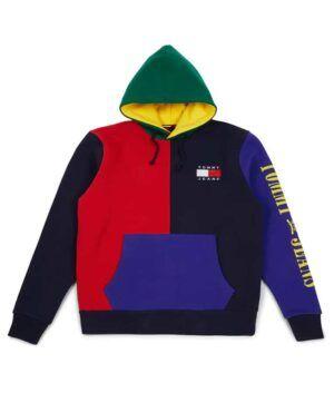 90s Color Block Hoodie