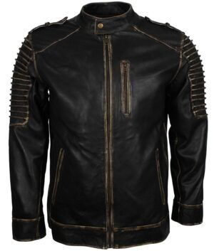 Joker Black Biker Leather Jacket