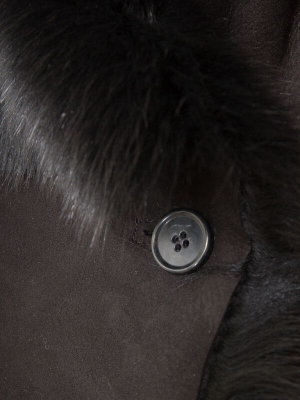 Women's Black Toscana Shearling Vest