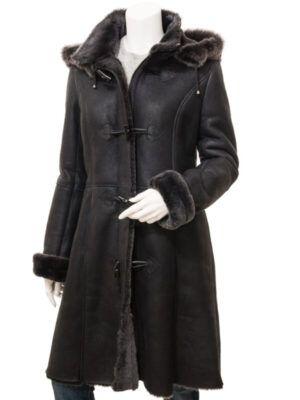 Womens Brown Sheepskin Coat