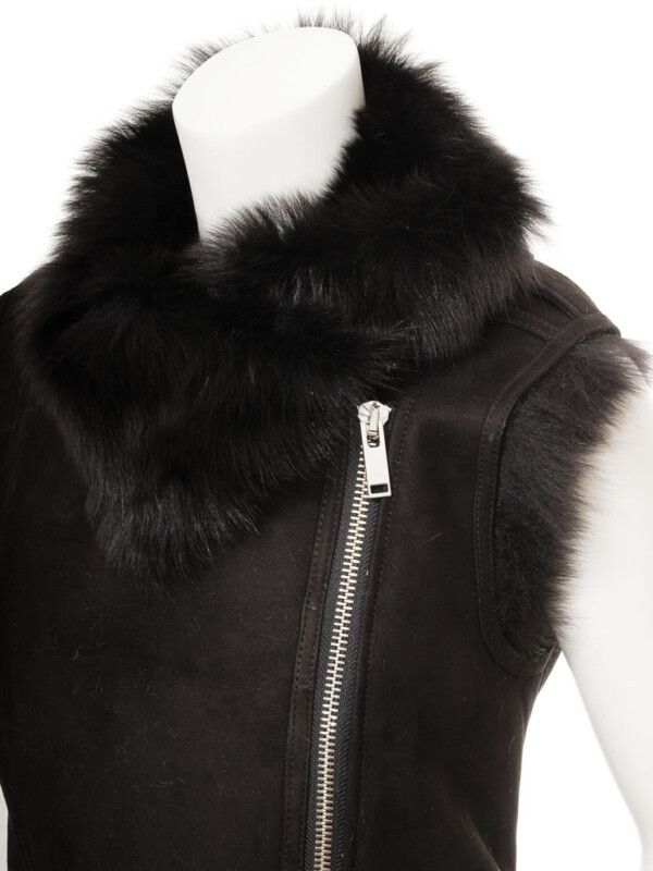 Womens Shearling Vest