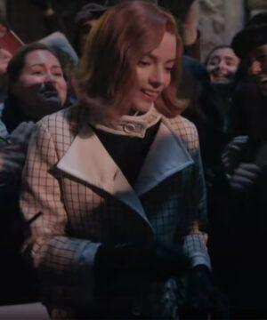 The Queen's Gambit Checkered Coat