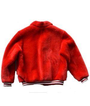 Red Fur Sheep Jacket