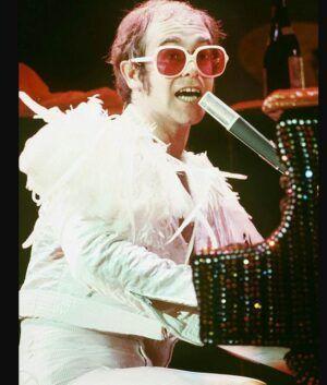 Elton John White Jacket