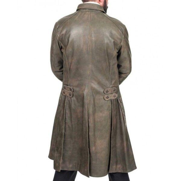 Jamie Fraser Leather Trench Coat
