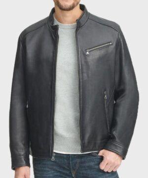 Adam Black Real Leather Jacket