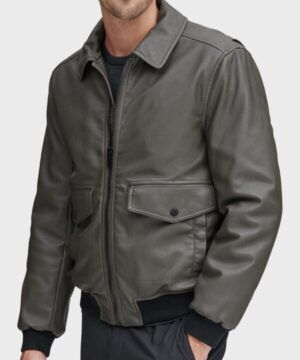 Mens Grey Bomber Jacket