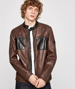 Mens Racer Billy Leather Jacket