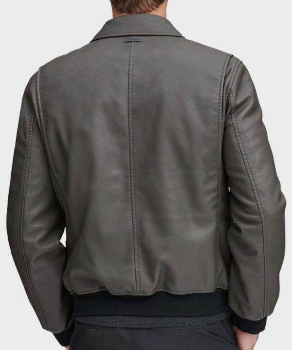 Mens Grey Bomber Jacket