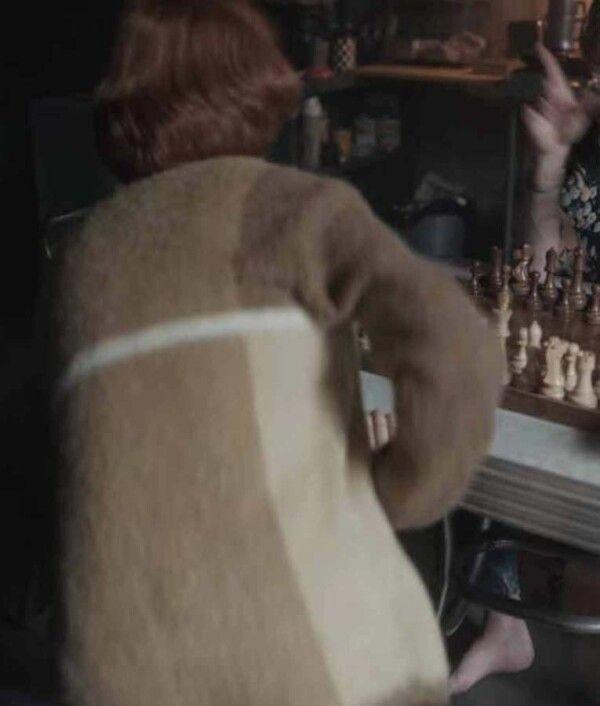 The Queen's Gambit Beth Harmon Brown Sweater | Anya Taylor Joy