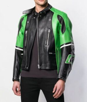 Mens Cafe Racer Biker Jacket