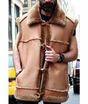 Jasper Camel Shearling Fur Vest