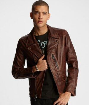 Mens Brown Slimfit Jacket