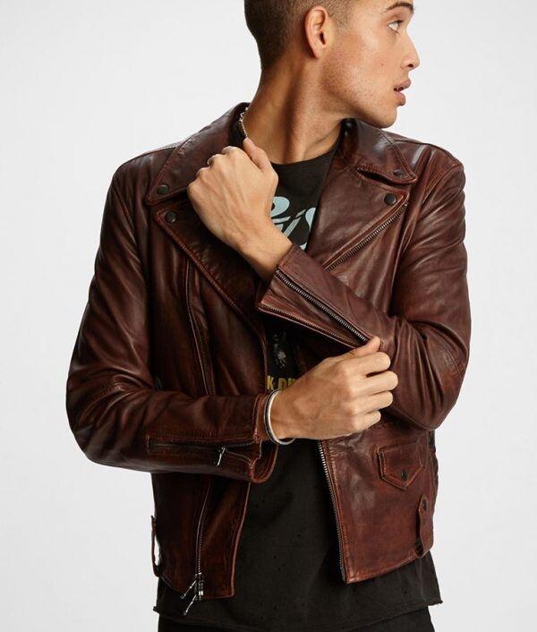 Mens Brown Slimfit Jacket