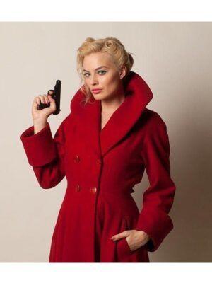 Margot Robbie Red Coat