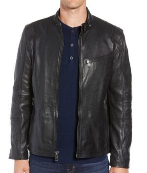 Mens William Black Slim-Fit Jacket