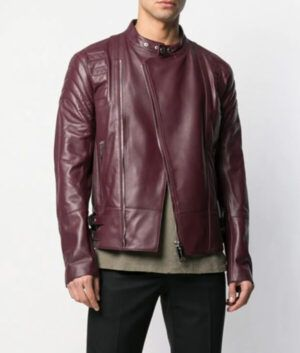 Mens Slimfit Burgundy Jacket