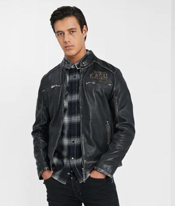 Mens Grayish-Black Jacket