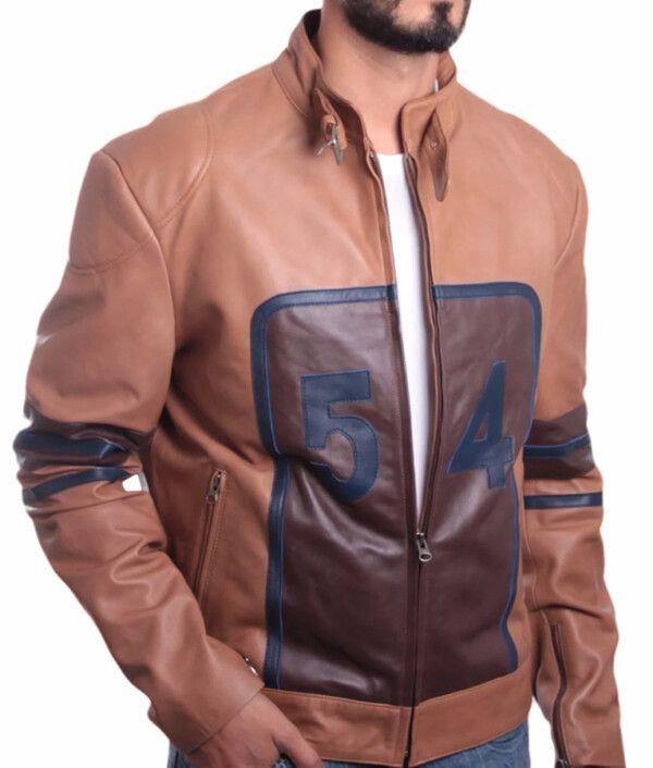 Mens Tan Brown Cowhide Jacket